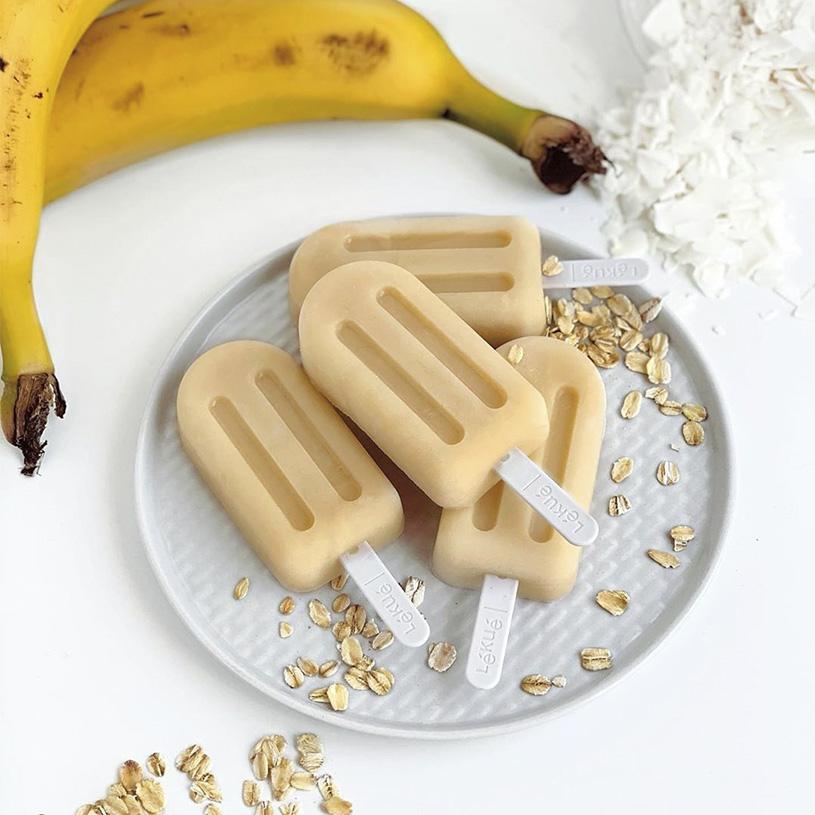 Receta de Helado de Avena, Coco y Plátano