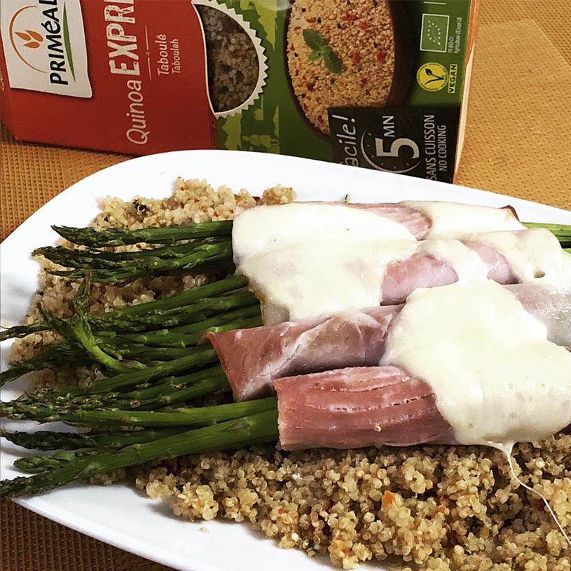 Receta de Quinoa con espárragos