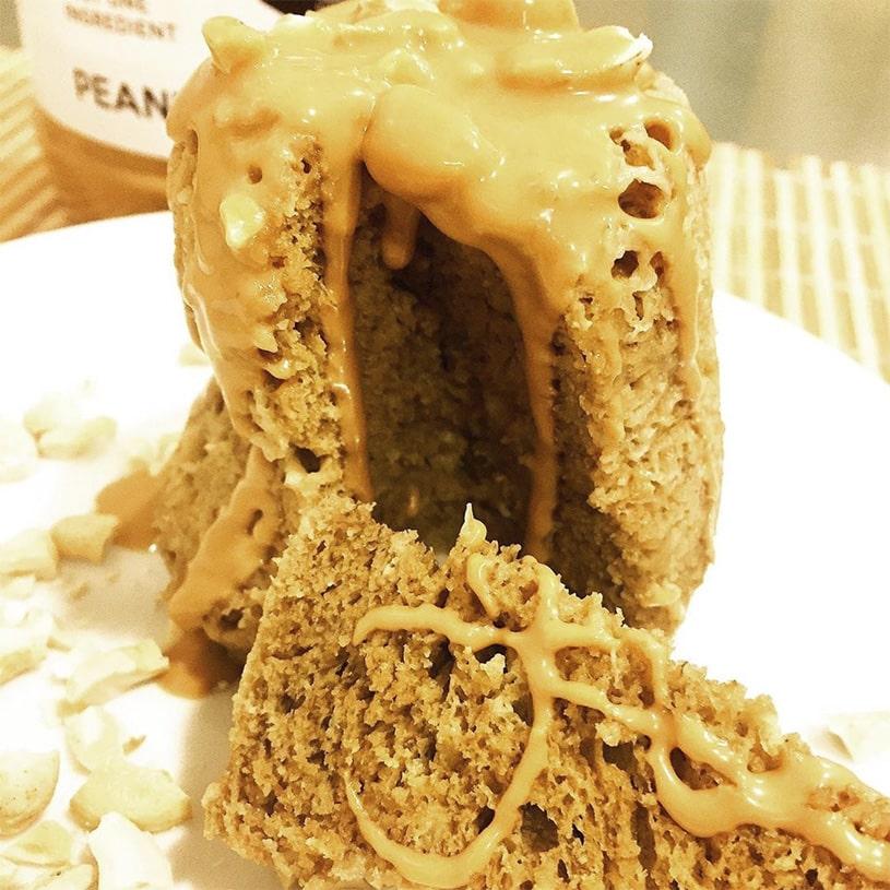 Receta de Mugcake de Plátano y té Matcha