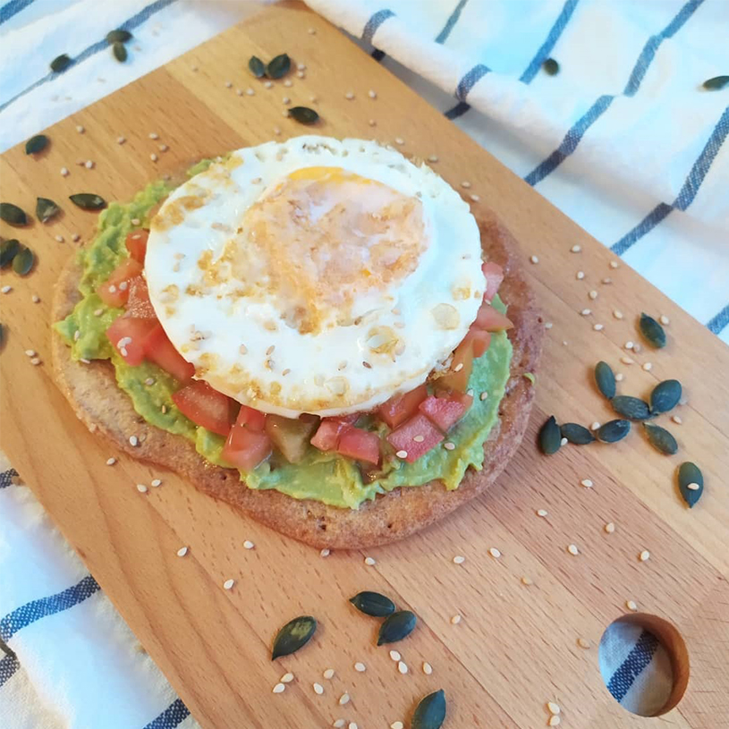 Receta de Tostada de Multicereales Salada