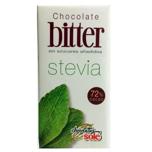 Chocolate negro bitter con Stevia