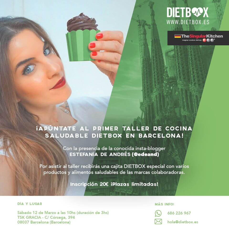 Primer Taller de cocina DIETBOX en Barcelona