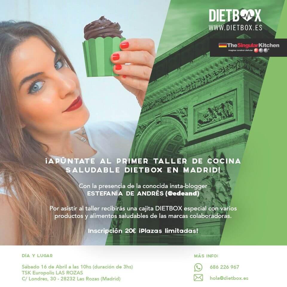 Primer taller de cocina saludable DIETBOX en Madriden