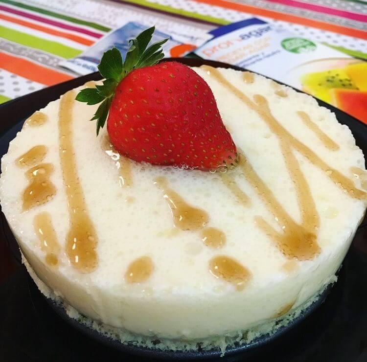 tarta de queso con agar agar