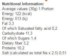 protein pops etiqueta