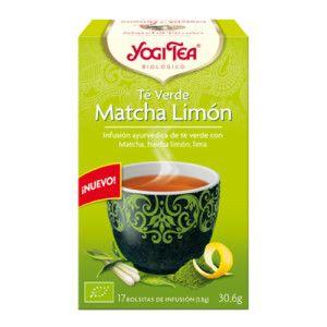 yogi tea te verde y matcha limon