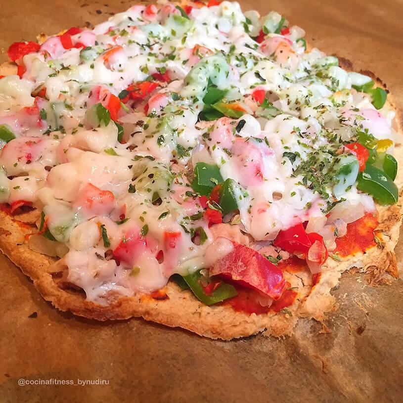 Pizza saludable con harina integral de avena 3