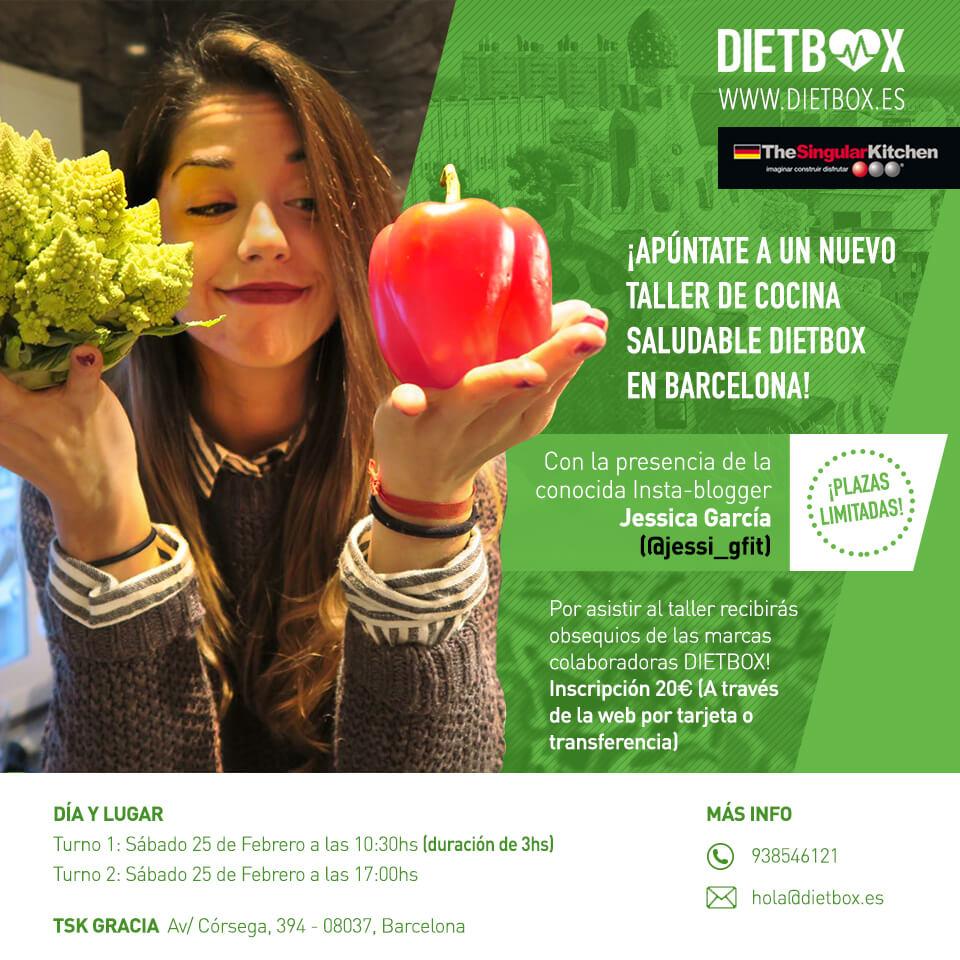 Taller de cocina saludable DIETBOX Barcelona - 25 de Febrero