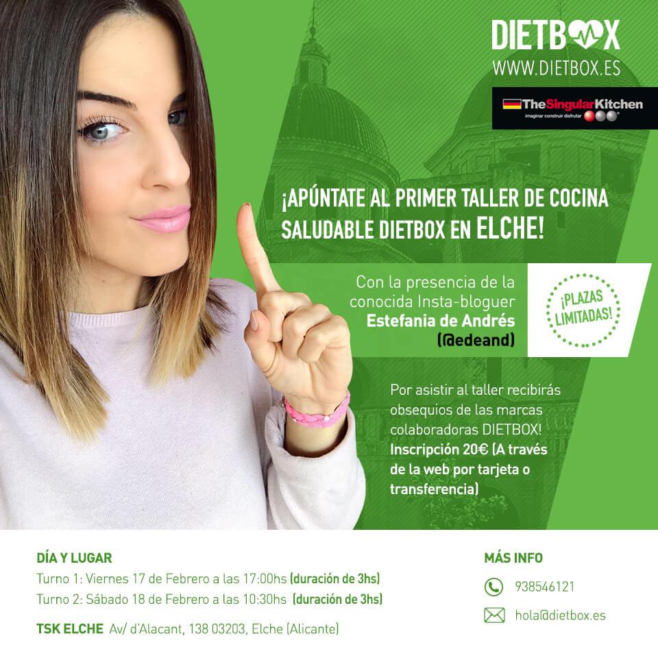 Taller de cocina saludable DIETBOX Elche - 17 y 18 de Febrero