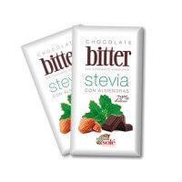Chocolate negro con almendras bitter con Stevia