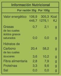 chips de kale 35gr etiqueta