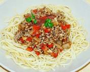 Espaguetis con salsa boloñesa 2