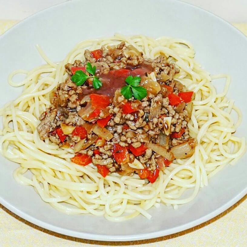 Espaguetis con salsa boloñesa
