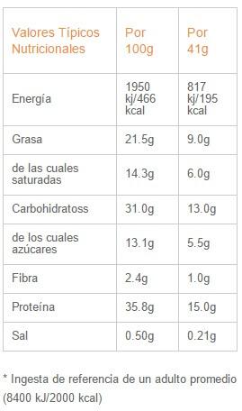 Protein Wafer Exante 41gr etiqueta