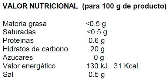 Crema de cacao ServiVita 480gr etiqueta