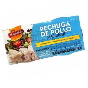 Pechuga de pollo al natural Casa Matachín 2x90gr