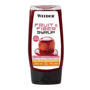 Sirope de Fruta y Fibra sabor Fresa Weider 250ml