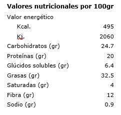 Chips de kale Inspiral 30gr etiqueta