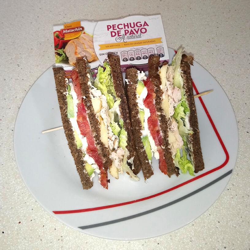 Sandwich de dos capas