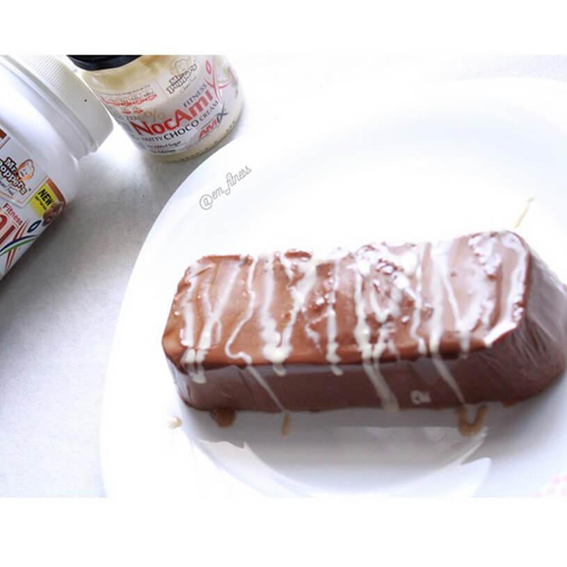 Flan proteico chocolate negro
