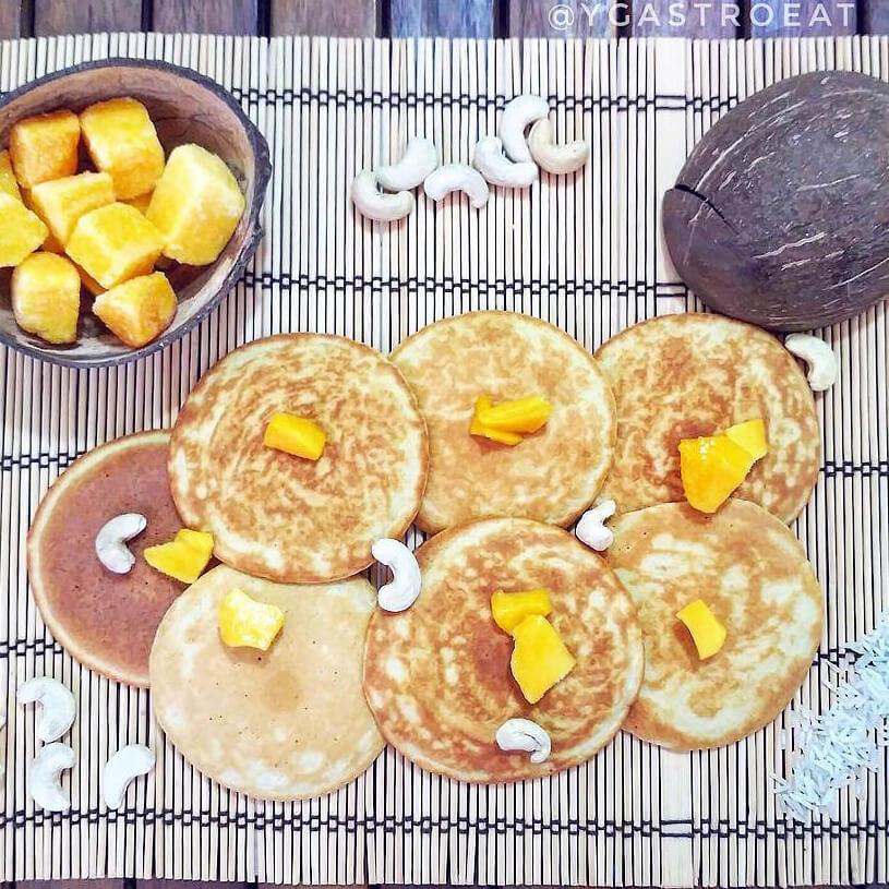 Pancakes al estilo Khao Niao Mamuang