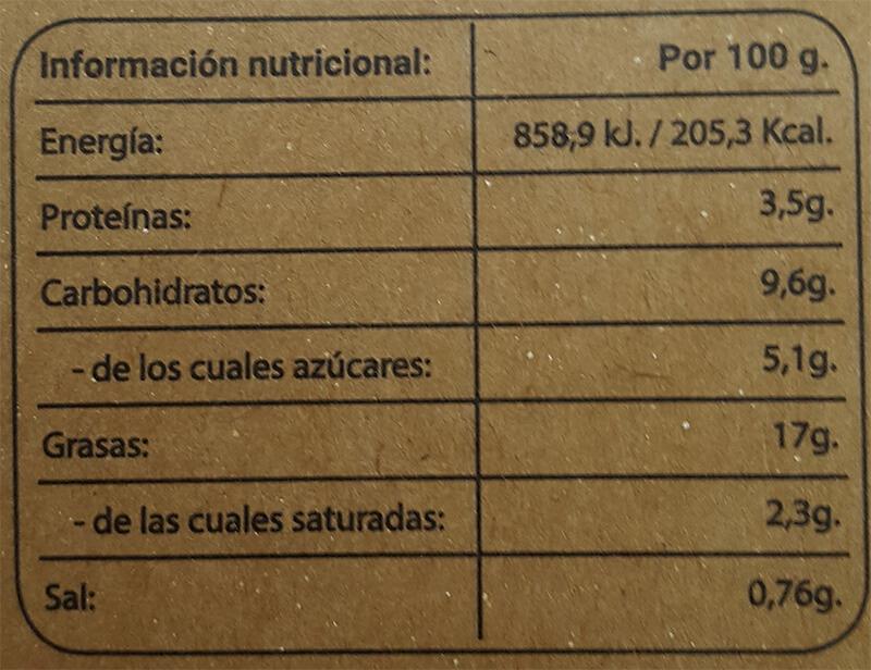 Sabrossada ecológica 130gr etiqueta