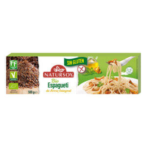 Espagueti de arroz integral sin gluten Natursoy 500gr