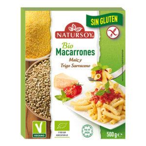 Macarrones de maíz y trigo sarraceno sin gluten Natursoy 500gr