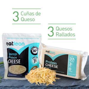 Pack 3 cuña de queso + 3 queso rallado