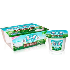 Yogur ecológico natural Las 2 Vacas 4x115gr