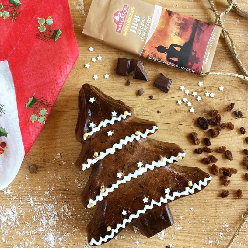 Receta de Bizcocho navideño de chocolate