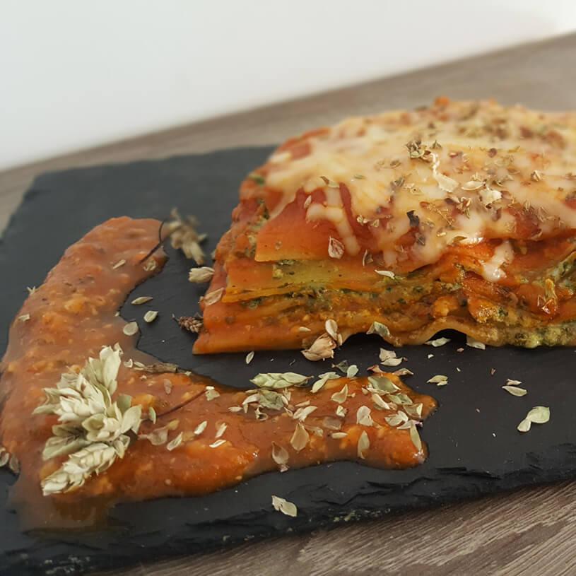 Receta de Lasaña de espinacas y queso