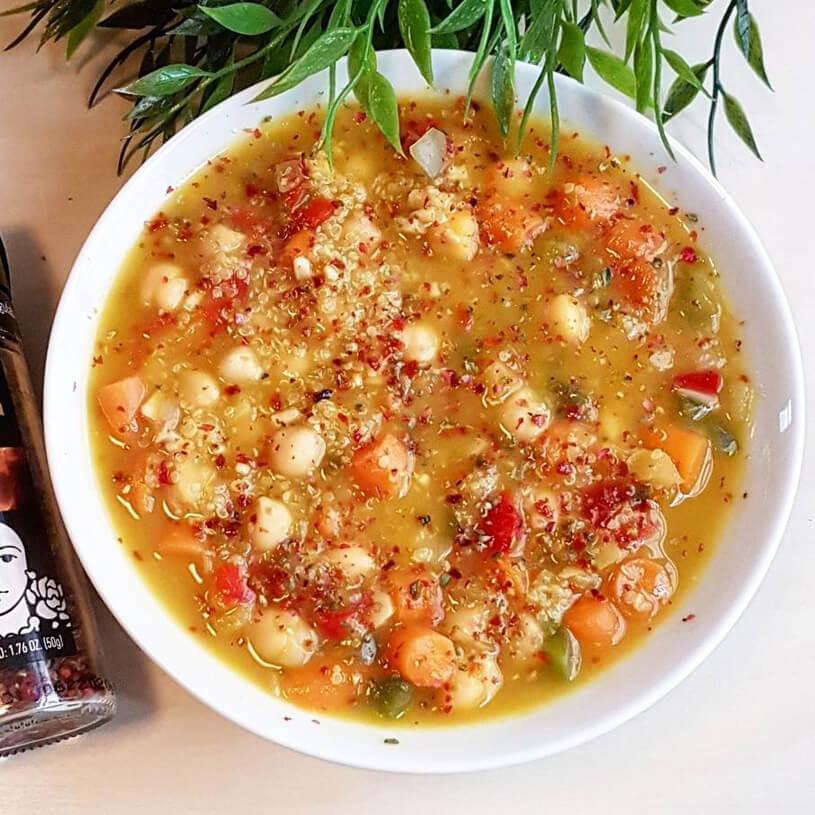 Receta de Potaje saludable de garbanzo y quinoa