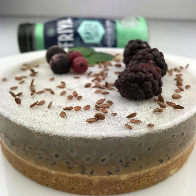 Receta de Cheesecake de albahaca