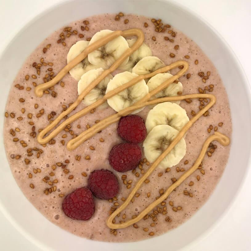 Receta de Porridge de fresa exprés