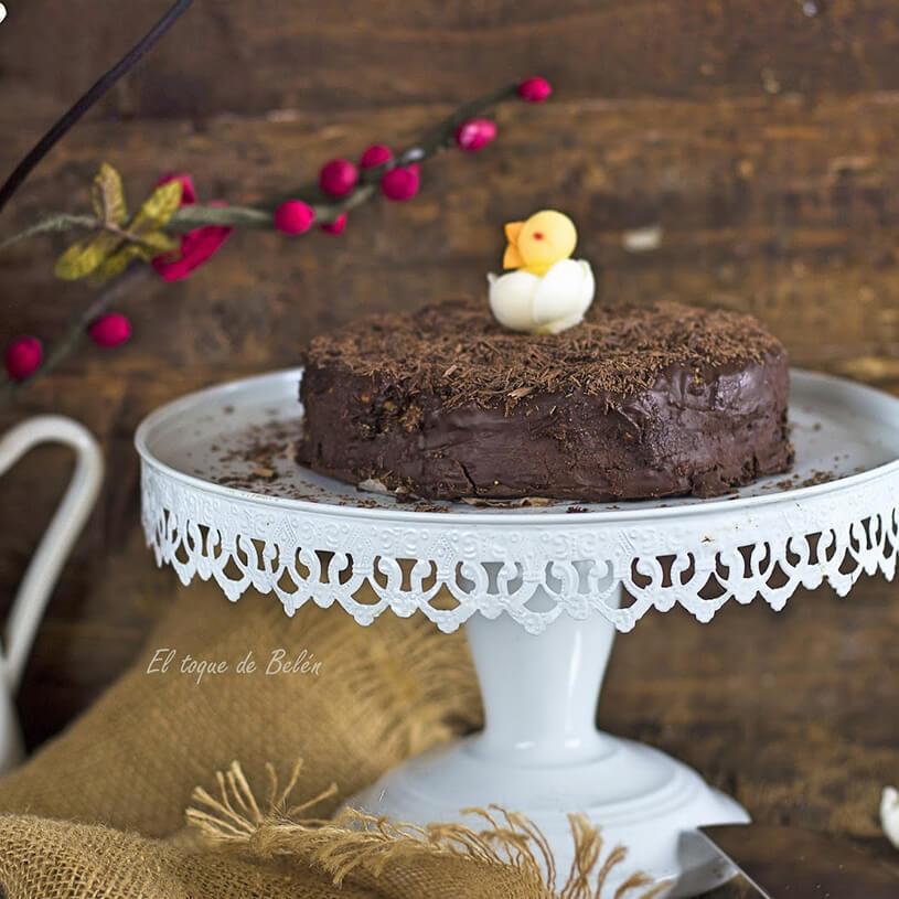 Receta de Tarta de galleta y chocolate