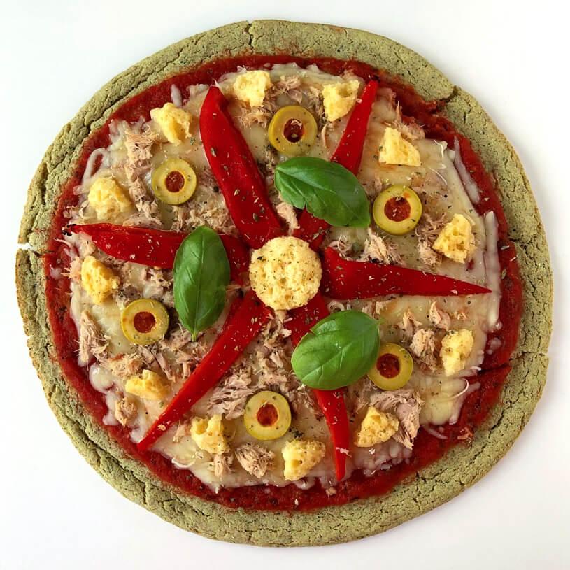 Receta de Pizza con base de calabacín