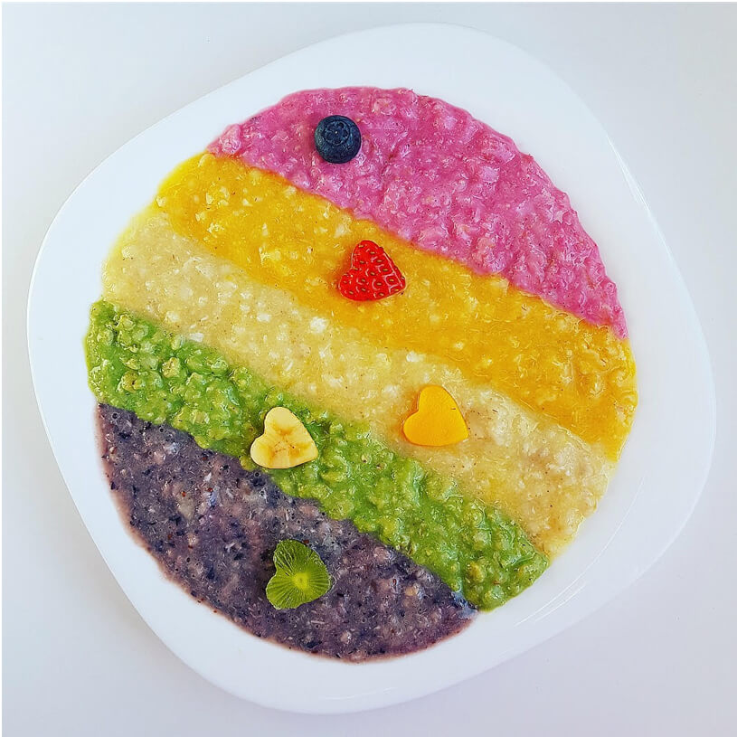Receta de Porridge de arcoíris