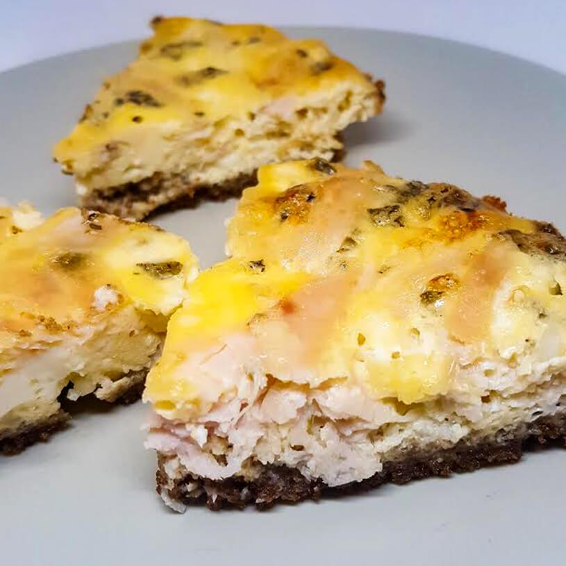 Receta de Quiche de pavo y queso cottage