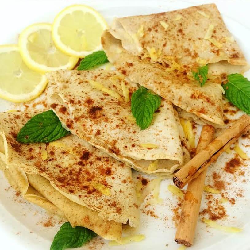 Receta de Crepes de canela y limón