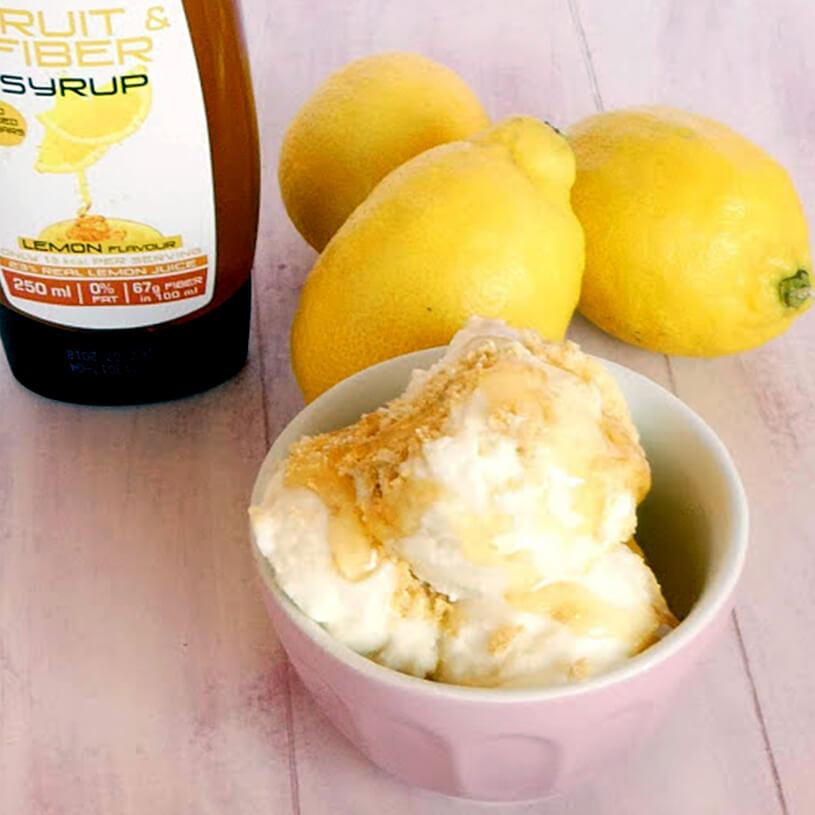 Receta de Helado saludable de limón