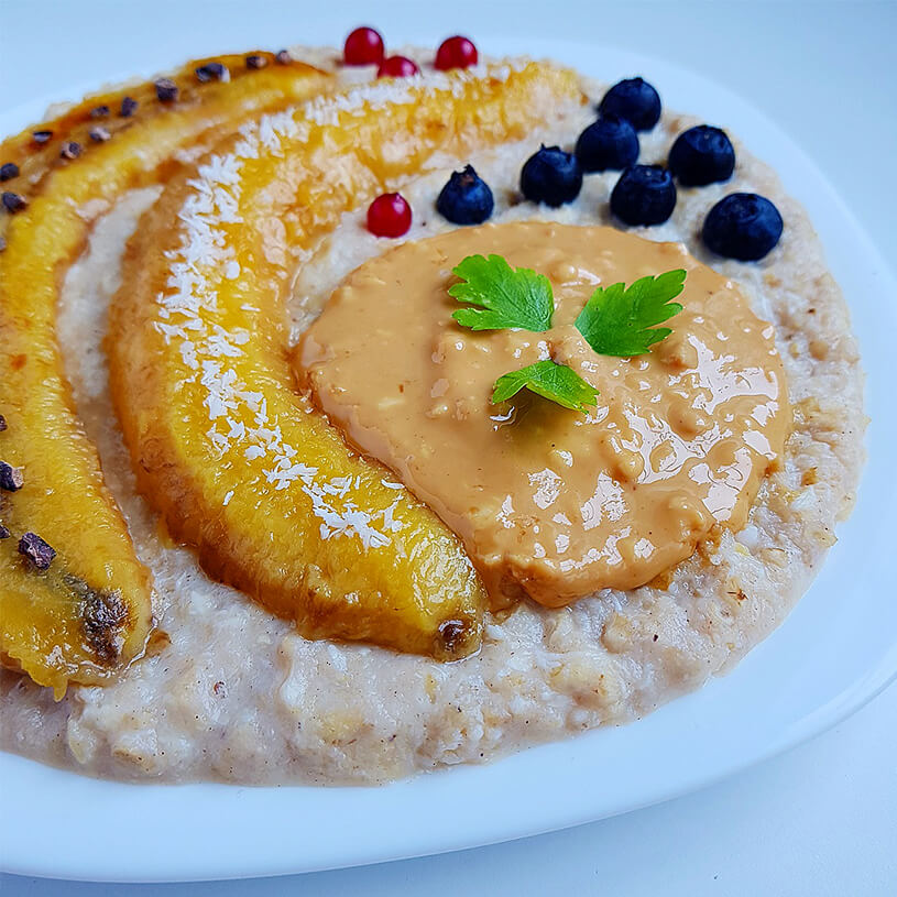 Receta de Porridge de plátano