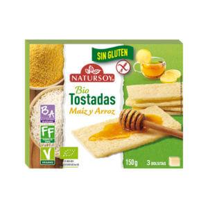 Tostadas de maíz y arroz sin gluten Natursoy 150gr