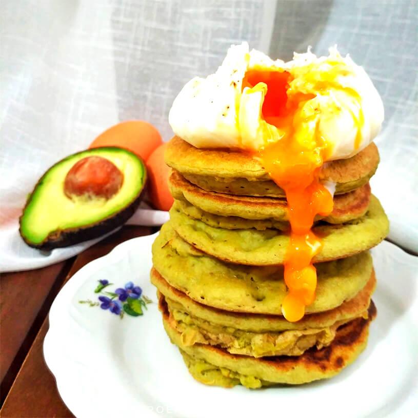 Receta de Pancake de Aguacate