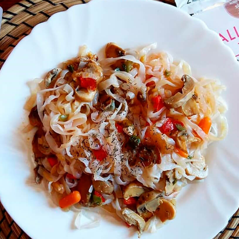 Receta de Shirataki con verduras