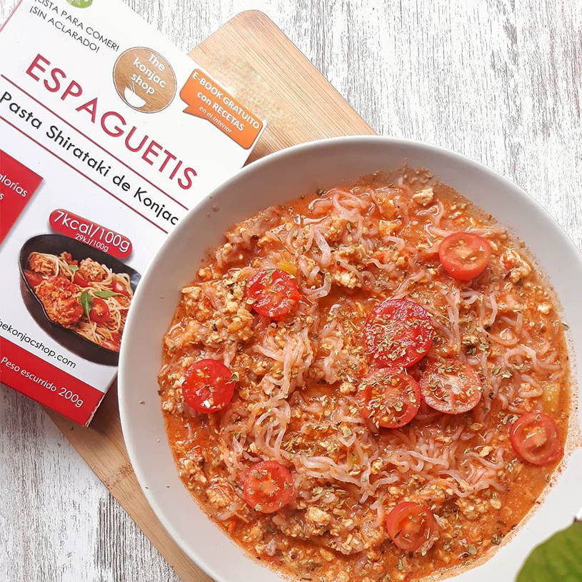 Receta de Espaguetis LowCarb