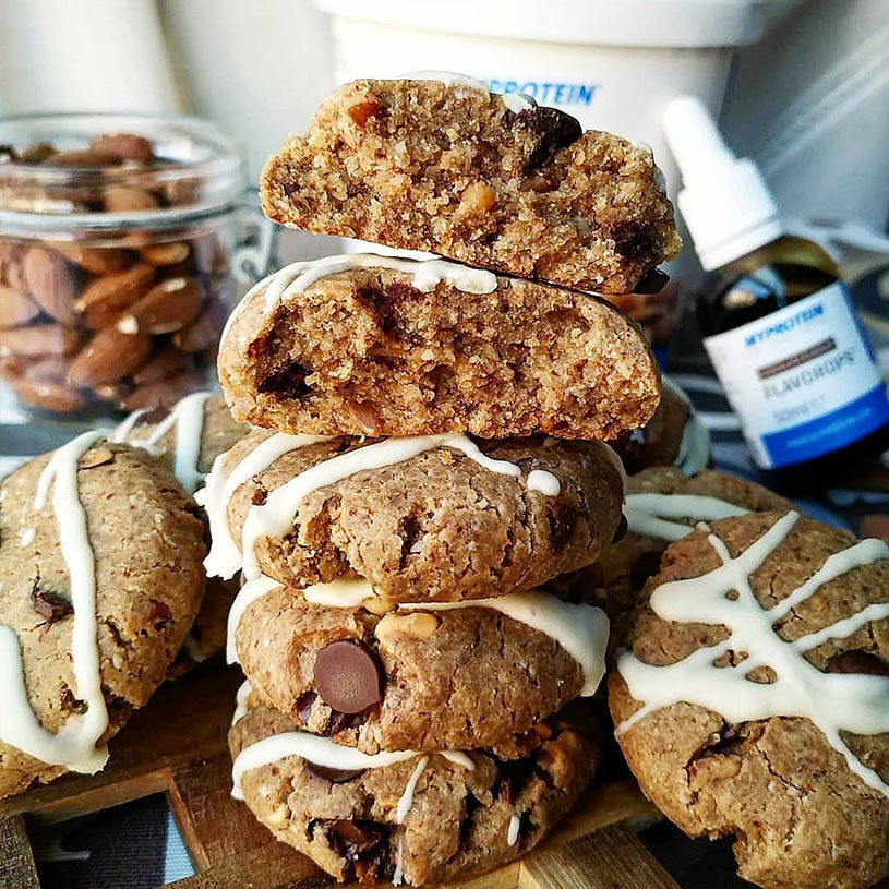 Receta de Cookies choco almendradas