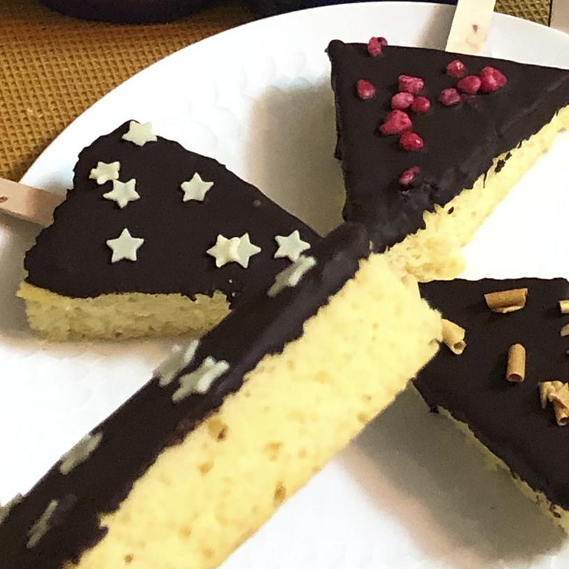 Receta de Triángulos de limón al chocolate