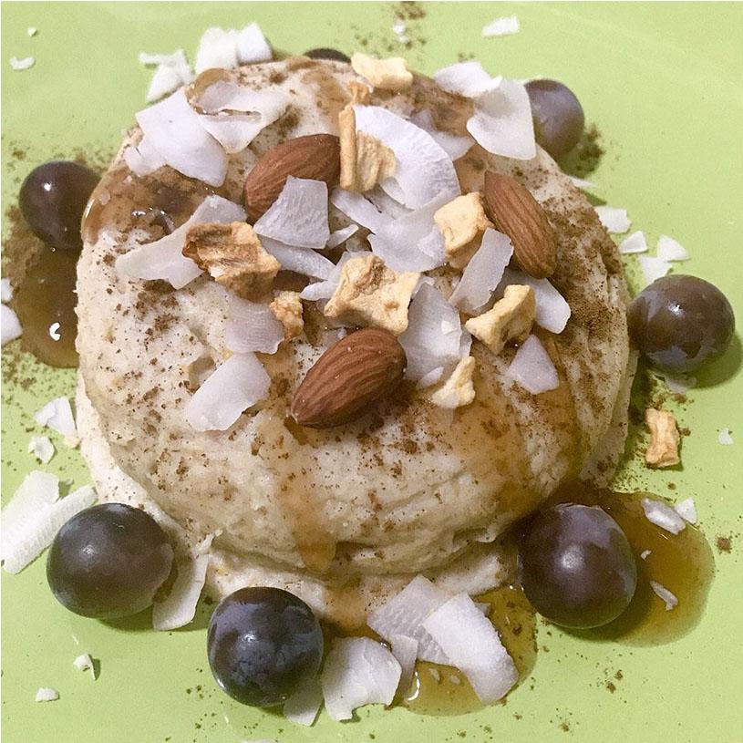 Receta de Mugcake de pera y coco