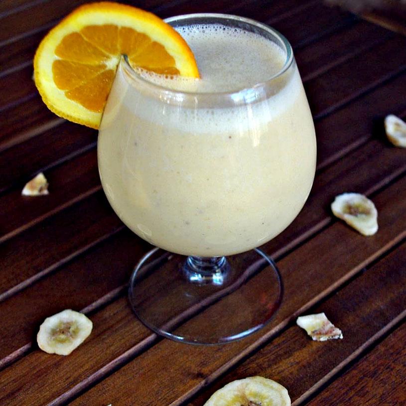Receta Smoothie de Plátano y Naranja 2